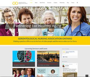 Web Site for the Gerontological Nursing Association Ontario by Context Marketing Communications