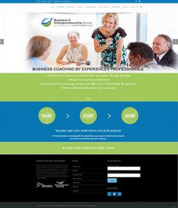 Web Site for Business Entrpreneurship Centre by Context Marketing Communications