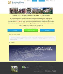 Web Site for Tradition Home Designs by Context Marketing Communications