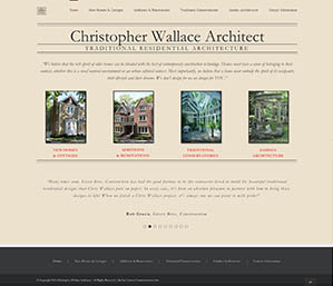 Web Site for Chris Wallace Architect by Context Marketing Communications