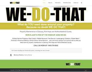 Web Site for We-Do-That Property Maintenance Services by Context Marketing Communications
