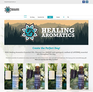 Healing Aromatics website by Context Marketing Communications