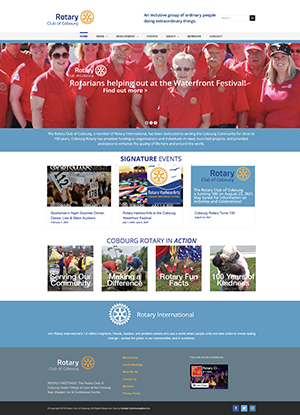 Cobourg Rotary website by Context Marketing Communications