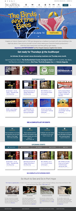 Web site for the Cameo Capitol Arts Centre by Context Marketing Communications
